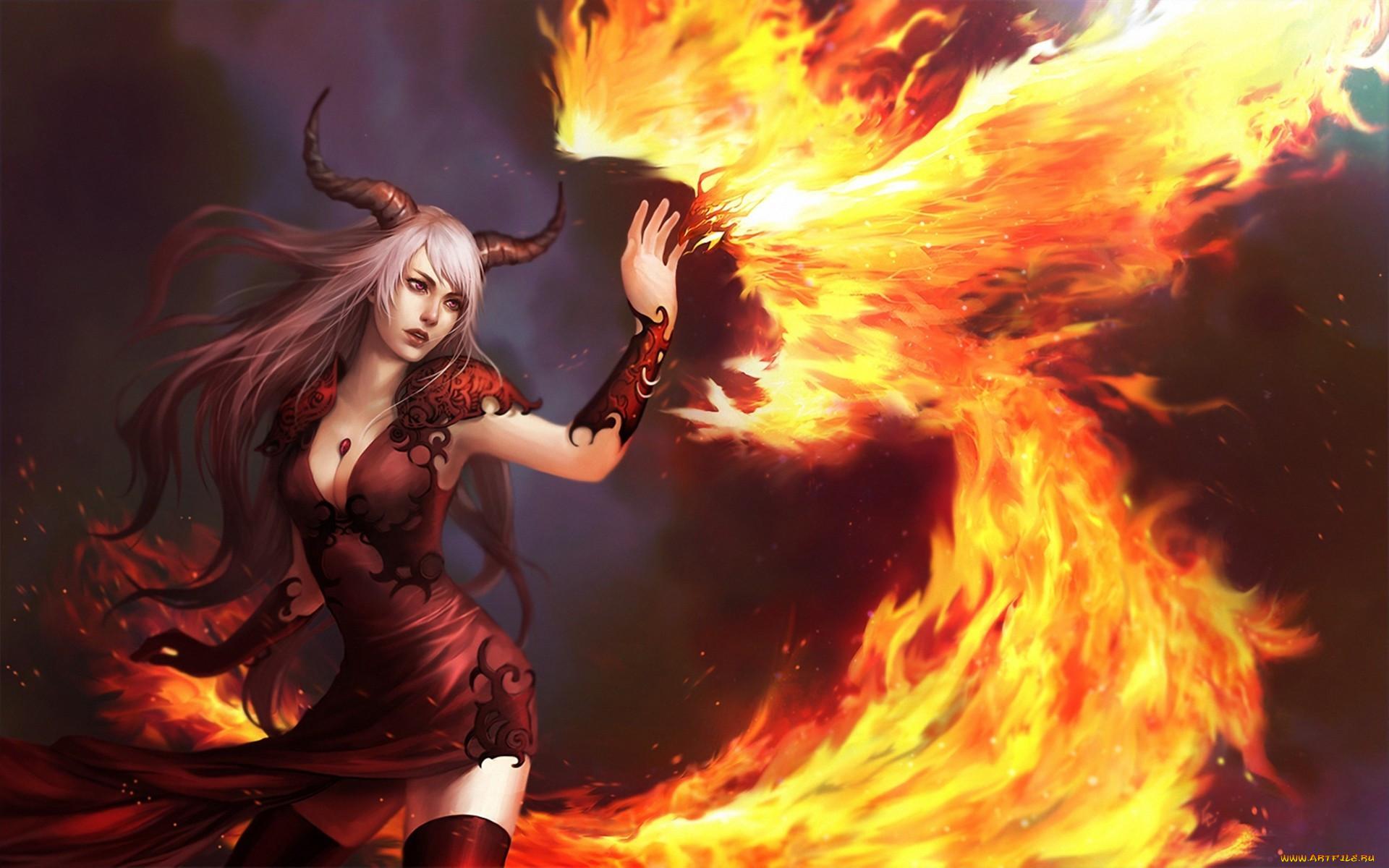 Картинки девушки демон